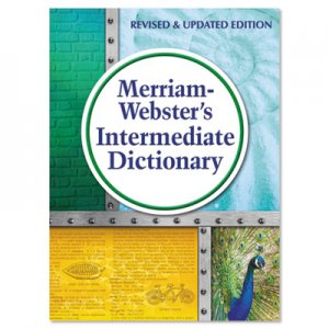 Merriam Webster MER6978 Intermediate Dictionary, Grades 6-8, Hardcover, 1,024 Pages