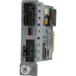 Omnitron Systems 8563-10 1000X to 100FX Managed Ethernet Media Converter/Repeater 8563-10-x