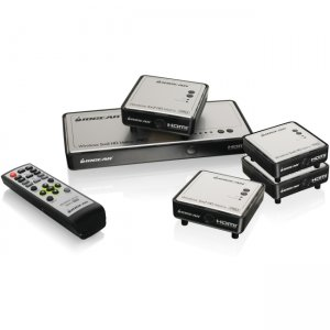 Iogear GWHDMS52MBK4 Long Range Wireless 5x2 HDMI Matrix PRO with 3 Additional Receivers