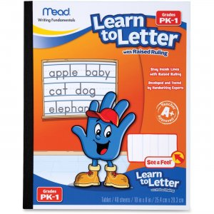 Mead 48122 Learn To Letter Writing Book MEA48122