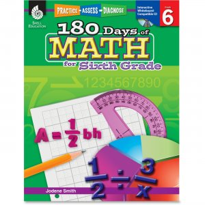 Shell 50802 Practice, Assess, Diagnose: 180 Days of Math for Sixth Grade SHL50802