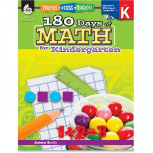 Shell 50803 Practice, Assess, Diagnose: 180 Days of Math for Kindergarten SHL50803
