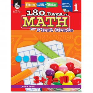 Shell 50804 Practice, Assess, Diagnose: 180 Days of Math for First Grade SHL50804
