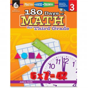Shell 50806 Practice, Assess, Diagnose: 180 Days of Math for Third Grade SHL50806