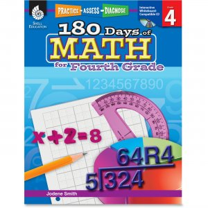 Shell 50807 Practice, Assess, Diagnose: 180 Days of Math for Fourth Grade SHL50807