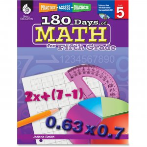 Shell 50808 Practice, Assess, Diagnose: 180 Days of Math for Fifth Grade SHL50808