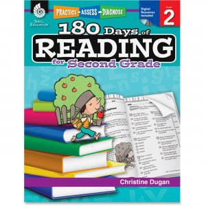 Shell 50923 Practice, Assess, Diagnose: 180 Days of Reading for Second Grade SHL50923