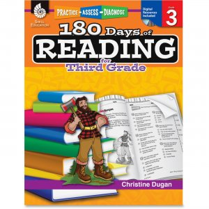 Shell 50924 Practice, Assess, Diagnose: 180 Days of Reading for Third Grade SHL50924