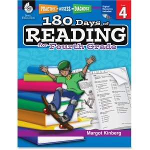 Shell 50925 Practice, Assess, Diagnose: 180 Days of Reading for Fourth Grade SHL50925