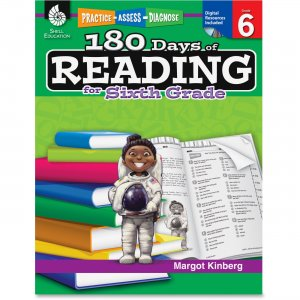 Shell 50927 Practice, Assess, Diagnose: 180 Days of Reading for Sixth Grade SHL50927