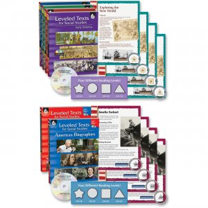 Shell 51070 Leveled Texts for Social Studies: 6-Book Set SHL51070
