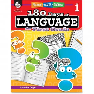 Shell 51166 Practice, Assess, Diagnose: 180 Days of Language for First Grade SHL51166