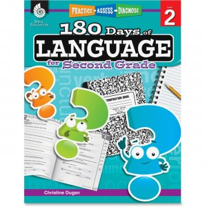 Shell 51167 Practice, Assess, Diagnose: 180 Days of Language for Second Grade SHL51167