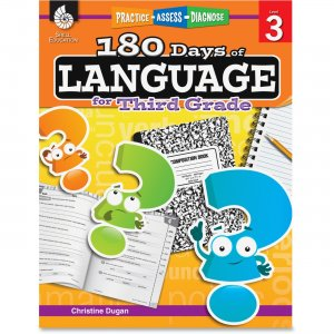 Shell 51168 Practice, Assess, Diagnose: 180 Days of Language for Third Grade SHL51168