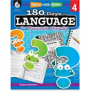 Shell 51169 Practice, Assess, Diagnose: 180 Days of Language for Fourth Grade SHL51169