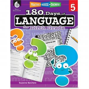Shell 51170 Practice, Assess, Diagnose: 180 Days of Language for Fifth Grade SHL51170