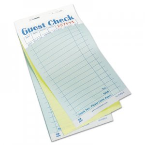 Royal RPPGC70002 Guest Check Book, Carbonless Duplicate, 3 2/5 x 6 7/10, 50/Book, 50 Books/Carton