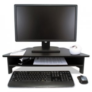 Victor VCTDC050 High Rise Collection Monitor Stand, 27 x 11 1/2 x 6 1/2-7 1/2, Black