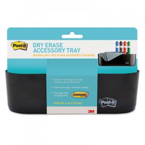 Post-it DEFTRAY Dry Erase Accessory Tray, 8 1/2 x 3 x 5 1/4, Black MMMDEFTRAY