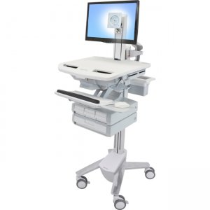 Ergotron SV43-1340-0 StyleView Cart with LCD Pivot, 4 Drawers
