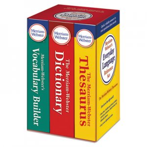 Merriam Webster MER3328 Everyday Language Reference Set, Dictionary, Thesaurus, Vocabulary Builder
