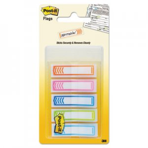 "Post-it Flags MMM684SHNOTE Arrow 1/2"" Page Flags, Five Assorted Bright Colors, 100/Pack"