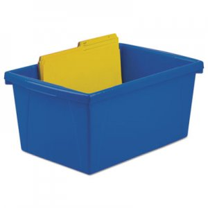Storex STX61515U06C Storage Bins, 10 5/8 x 15 5/8 x 8, 5 1/2 Gallon, Assorted Color, Plastic