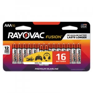 Rayovac RAY82416LTFUSK Fusion Advanced Alkaline Batteries, AAA, 16/Pack