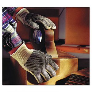 AnsellPro ANS761019CT MultiKnit Dotted Lightweight Gloves, Large, Natural, 12 Pairs