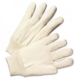Anchor Brand ANR1110 Light-Duty Canvas Gloves, White, Dozen