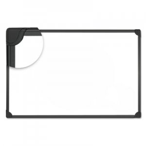 Genpak UNV43025 Design Series Magnetic Steel Dry Erase Board, 36 x 24, White, Black Frame