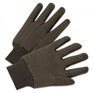 Anchor Brand ANR1200 Jersey General Purpose Gloves, Brown, 12 Pairs