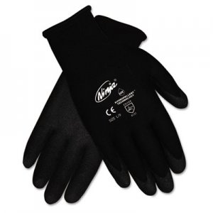 MCR Safety CRWN9699XLDZ Ninja HPT PVC coated Nylon Gloves, X-Large, Black, Pair