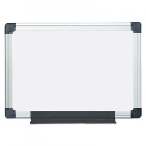 MasterVision BVCMA0207170 Value Lacquered Steel Magnetic Dry Erase Board, 18 x 24, White, Aluminum
