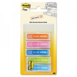 "Post-it Flags MMM684SHOPBLA Arrow Message 1/2"" Page Flags, Five Assorted Bright Colors, 100/Pack"