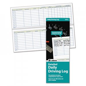 Adams ABFAFR15 Detailed Daily Driving Log, 3 1/4 x 9, 45 Pages