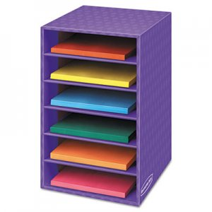 Fellowes 3381201 Vertical Classroom Organizer, 6 shelves, 11 7/8 x 13 1/4 x 18, Purple FEL3381201