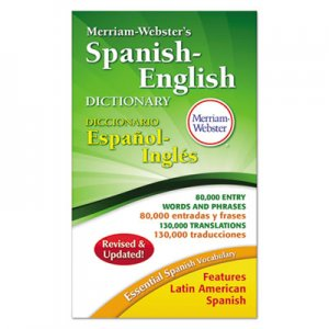 Merriam Webster MER824 Merriam-Webster s Spanish-English Dictionary, 864 Pages