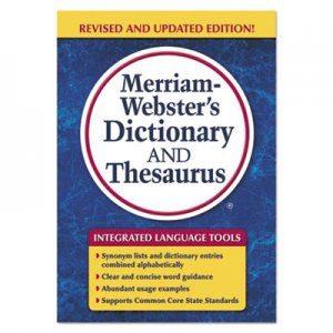Merriam Webster MER7326 Merriam-Webster's Dictionary and Thesaurus, 992 Pages