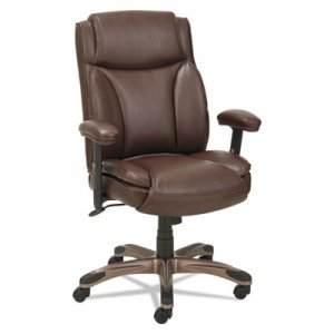 Alera ALEVN5159 Veon Series Leather MidBack Manager's Chair w/Coil Spring Cushioning,Brown