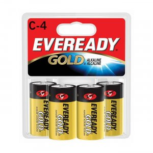 Energizer A93BP-4 Eveready C Size Alkaline General Purpose Battery