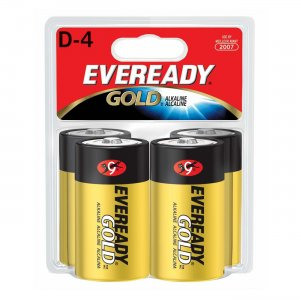 Eveready A95BP-4 D Size Alkaline General Purpose Battery