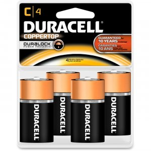 Duracell MN1400R4ZX C Size Alkaline General Purpose Battery MN1400R4Z