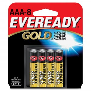 Eveready A92BP-8 Alkaline AAA Size General Purpose Battery