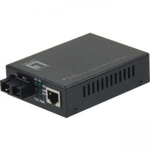 LevelOne FVT-2401 10/100BASE-TX to 100BASE-FX SMF SC Converter, 40km