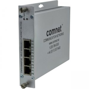 ComNet CNFE4SMSPOE 4 Port 10/100 Mbps Ethernet Self-managed Switch with PoE+, up to 100m (328 ft)