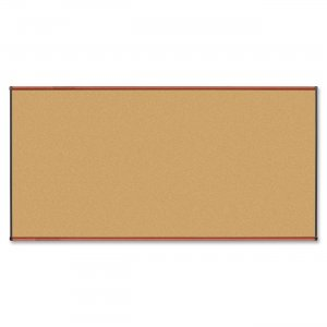 Lorell 60639 Cherry Finish Natural Cork Board LLR60639