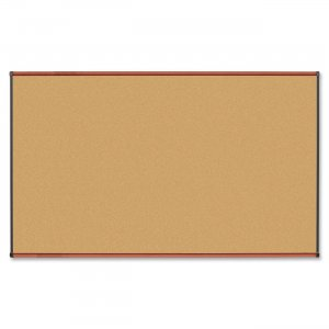 Lorell 60640 Cherry Finish Natural Cork Board LLR60640