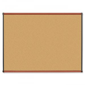 Lorell 60641 Cherry Finish Natural Cork Board LLR60641