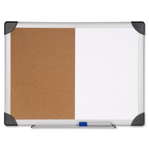 Lorell 19290 Dry Erase/Cork Board Combination LLR19290